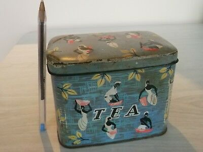 VINTAGE COLLECTABLE ''TWININGS 1/2lb TEA TIN''