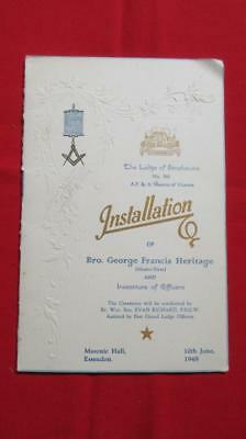 1948 Installation The Lodge of Strathmore No. 566 for Bro. George Francis Herita