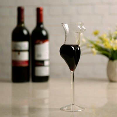 3X(Creative Cup Glass Human Wine Glass Sexy Female Body Cup Whiskey Glass L4D6
