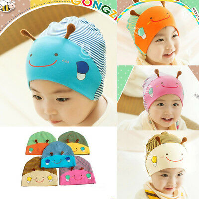 Baby Boy Girl Infant Toddler Cute Bee Cotton Elastic Spring Autumn Hat Beanie