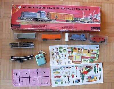 Vintage Cragstan H0 Train Made By Distler. Complete/Works W/All Pieces & Box