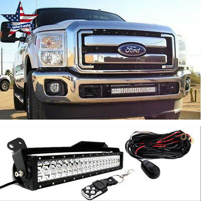 "2011-2013 Ford F250 F350 Super Duty 22"" LED Light Bar w/ Bumper Mount Brackets"