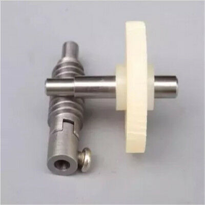 Metal Worm Wheel  Plastic Gear Reducer Reduction Gearset for DIY Accessories ^^