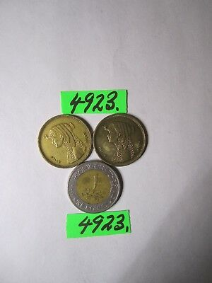 3 x  coins from Egypt     12    gms      Mar4923