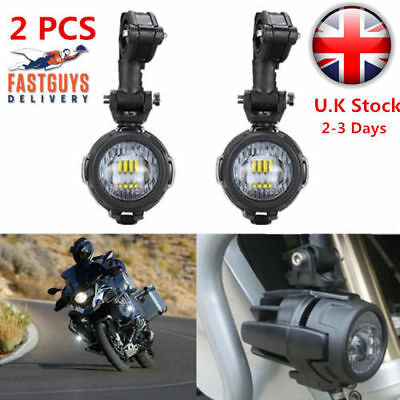 2x Spot LED Auxiliary Fog Light Safety Driving Lamp Motorcycle for BMW R1200GS
