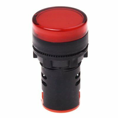 AC 220V Red LED Power Indicator Pilot Single Light Lamp 22mm C6X2