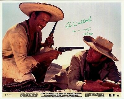 ELI WALLACH hand-signed THE GOOD BAD & UGLY 8x10 authentic w/ coa CLINT EASTWOOD