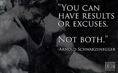 Arnold Workout Gym Fitness Quotes High Quality wall Art poster Choose your Size