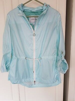 Geox Respira Waterproof Breathable Fitness/ Jogging pack-away jacket Size 8