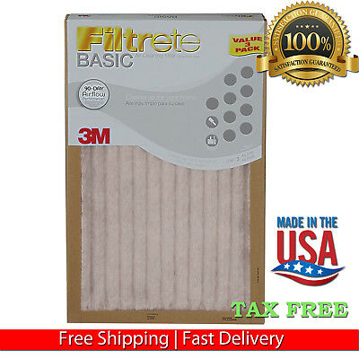 374444Filtrete 3M Air Furnace Filter White Pleated 3 Pk Or 12 Pk Merv Rating 5