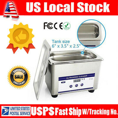 0.8L Digital Ultrasonic Cleaner Watches Eyeglasses Dental Parts Jewely Cleaning