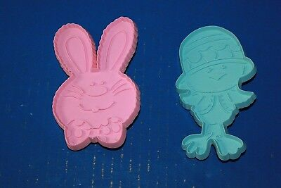 Pair Vintage Hallmark Easter Bunny Chick Cookie Cutters