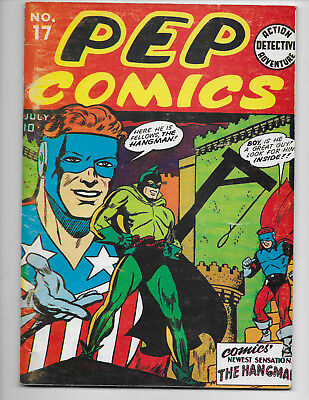 Pep Comics 17 Oversized Black And White Reprint Edition