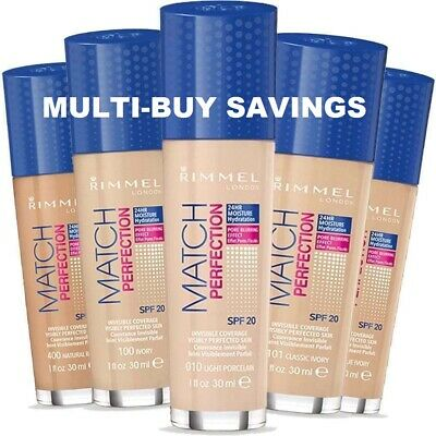 RIMMEL Match Perfection Foundation SPF20 30ml SEALED- various shades
