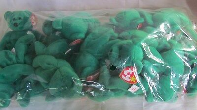 Lot of 12 TY Beanie Babies ERIN Bears, 1997, New In Bag With Mint Tags