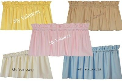 Basic Solid Color window curtain Baby Blue Soft Pink Cream Tan Butter Yellow NEW
