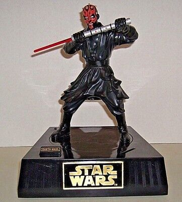 "Darth Maul Animated Talking Bank 13 1/2"" Star Wars Ep.1 The Phantom Menace 1999"