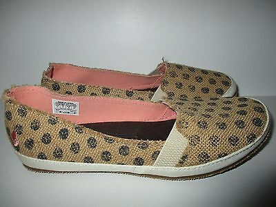 Reef Little Reef Summer Slip On Canvas Shoes Girls sz 1 NEW