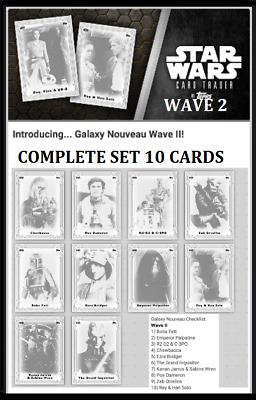 Topps Star Wars Card Trader Galaxy Nouveau Wave 2 Complete Set [ 10 Cards ]