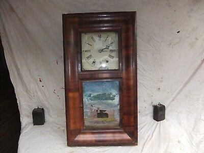 Antique American 8 Day Wall Clock