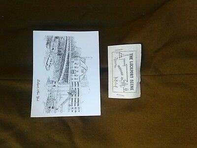 VINTAGE POSTCARD Lockport NY HAND SKETCHED Old CITY Hall At The Erie Barge Canal