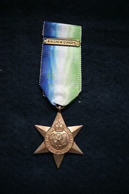 Wwii Original Atlantic Star With Air Crew Europe Clasp (Clasp Sold As A Copy)