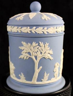 Wedgwood CREAM ON LAVENDER JASPERWARE Olympus Jar Motif 6 GREAT CONDITION