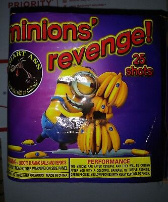 Minions Revenge empty Box Firework Label