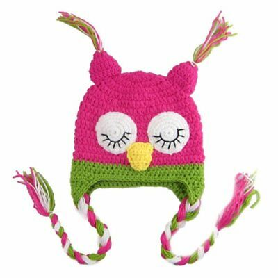 3X(Sweet Owl Baby Girl photoshoot Knit Crochet Costume Beanie + Pants P9R4