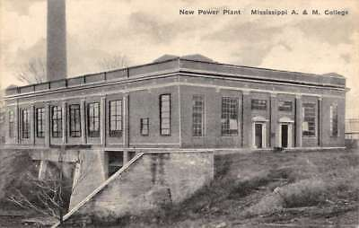 Starkville Mississippi A And M College Power Plant Antique Postcard K104159