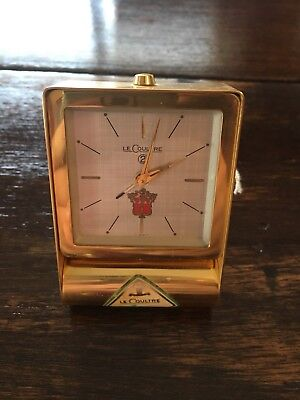 Rare 211 Jaeger-LeCoultre Swiss Vintage Travel Clock 2 Day With Unusual Emblem