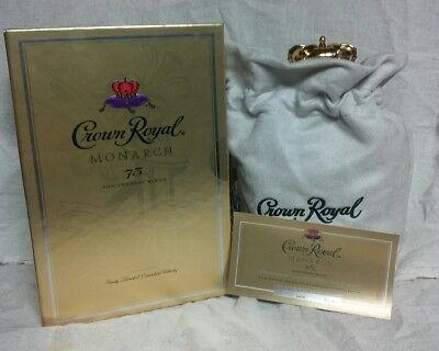 Crown Royal Monarch 75th Anniversary Empty Bottle, Collectible Box, Bag & Card