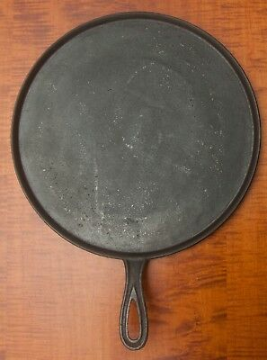 Very Large Antique Gate Mark Cast Iron Hand Griddle, Clean & Ready To Use.