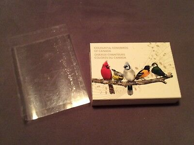 Canada Royal Mint Songbirds Beautiful Silver Coins Set 2015 with Music Box!