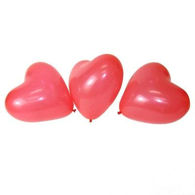 "3X(100 PCS 12"" Red Heart Love Latex Wedding Birthday Party Valentine's Day N9H9"