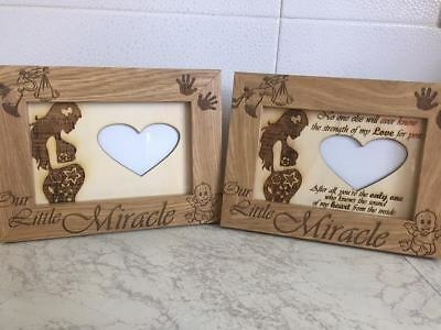Engraved Baby Scan Photo/picture Frame 10X15Cm, Can Be Personalised