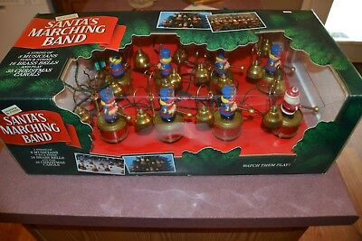Vintage Mr Christmas Santas Marching Band Lighted Animation Minty IN BOX