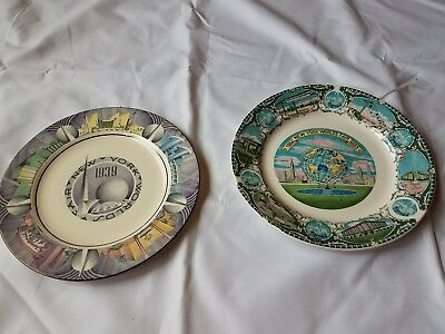 1939 and 1964 New York Worlds fair plates - (Homer Laughlin)