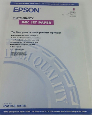 Epson Ink Jet Paper Presentation Paper 11 x 17, 100 Sheets/Pack S04170