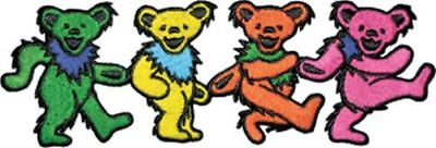 Grateful Dead - Dancing Bears - Embroidered Patch - Brand New - 8291