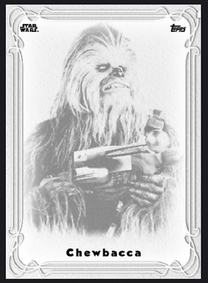 Topps Star Wars Card Trader Galaxy Nouveau Wave 2 Chewbacca