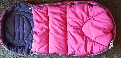 Mamas and Papas Pink Girls Cosy Toes Cold Weather Footmuff