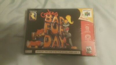 Conker's Bad Fur Day (Nintendo 64, 2001) NEW FACTORY SEALED OEM AUTHENTIC RARE
