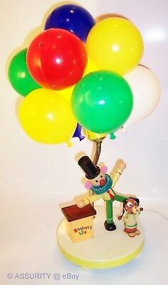 Vintage Dolly Toy Nursery Light Clown Circus Balloons Dog 10 Cents Lamp Night