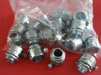 Hubbell Raco 3002 1/2 inch Rigid set screw connector, screw type  Qty. 25  * NOS
