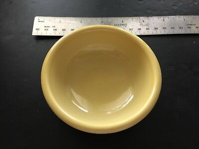Vintage Hall Pottery USA #178 Yellow Pinch Bowl Small Cocktail Bowl 3 3/4""