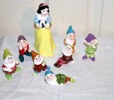 Vintage Walt Disney's Snow White and the Seven Dwarfs Japan Productions Ceramics