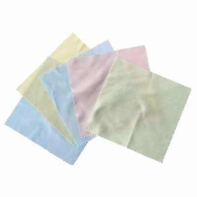3X(5 x Superfine fibre square with lace clean glasses cloth G7N3