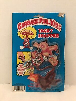 1985 TOPPS Imperial Toys Garbage Pail Kids Tacky Snappers - UP CHUCK + ADAM BOMB
