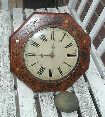 19Th Century Black Forest Wal Clock For Spares